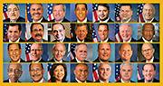 遭誤認為疑犯的28名美國議員。(網上圖片)