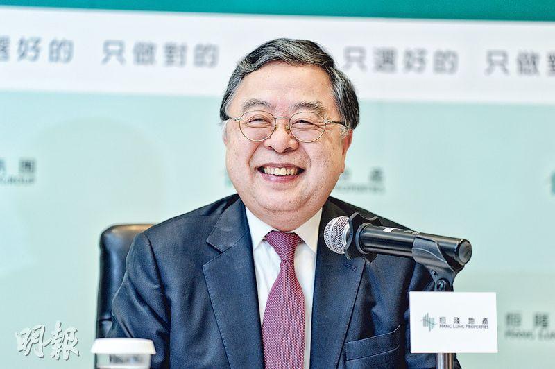 恒隆地產主席陳啟宗(圖)稱,香港要解決住屋問題一定要填海,但他反對在維多利亞港沿岸填海,並認為香港尚有其他地方適合。(鍾林枝攝)