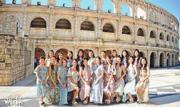19名候選港姐昨日移師澳門的羅馬競技場拍外景。(攝影/記者:陳釗)