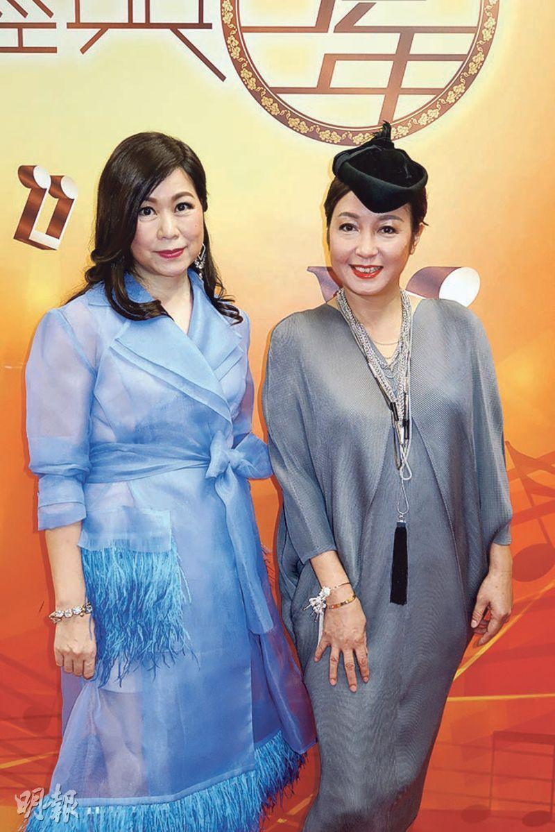 黎明詩(右)希望跟林志美(左)有更多合作機會。(攝影/記者:鍾一虹)