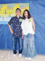 Joe Junior(左)與許秋怡呼籲支持 「愛心獻保良」籌款活動。(攝影/記者:林蘊兒)