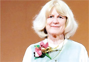 瑪莉—克萊爾•金教授上周三出席邵逸夫獎頒獎禮,表示邵逸夫獎由評審、遴選團隊以至得獎者都是來自世界各地,更顯科學無國界。(政府新聞處)