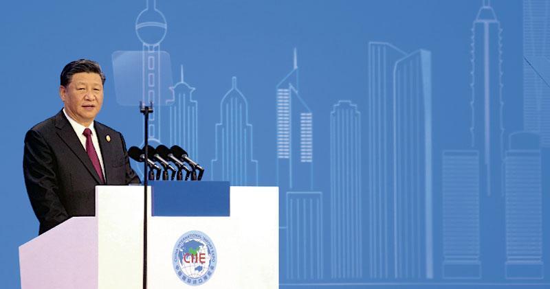 國家主席習近平(圖)於進博會開幕儀式致辭,強調中國開放大門不會關閉,只會愈開愈大。(法新社)