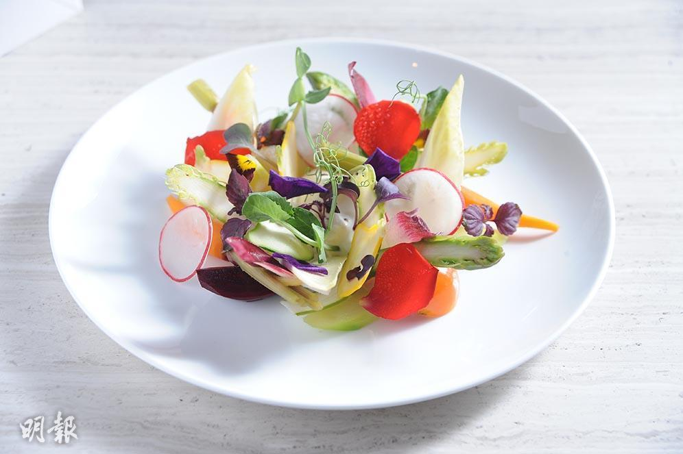 Raw vegetable salad (Mingpao Photo)
