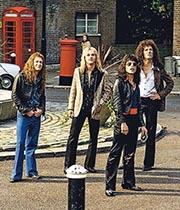 The Queen quartet in the movie.