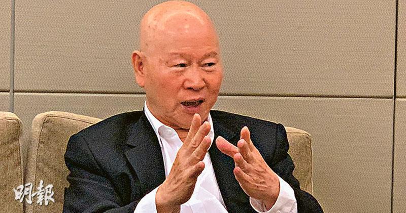 許信良表示,高雄市長國民黨候選人韓國瑜所提的經濟議題,本質上亦受兩岸關係影響。(劉利攝)