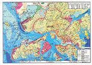 合和主席胡應湘早於1997年,曾經向首屆特區政府提議的填海及基建規劃圖,當中除了包括在東大嶼填一片土地之外,還建議善用在大嶼山西、大澳附近海岸深水區建貨櫃碼頭,令貨櫃輪毋須駛入靠近維港的水域。(受訪者提供)