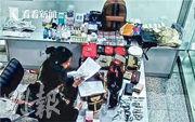 涉案女子行李中共有13隻手表、20個名牌手袋和100多件飾品、保健品等,總值約35萬元人民幣。(網上圖片)
