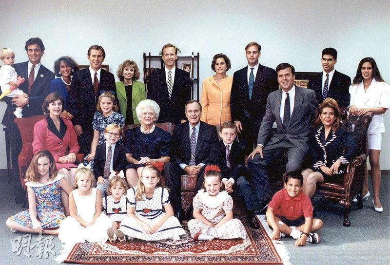 布殊家族在政壇甚具影響力,包括有兩名前總統、兩任州長,老布殊父親也曾是參議員。(路透社)