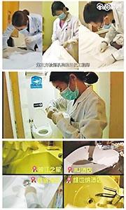 檢驗工作人員在10間連鎖酒店的牀鋪、枕頭袋、洗手間、洗手盆等位置抽取樣本測試細菌,發現數間酒店馬桶和洗手盆含有大腸桿菌。(網上圖片)