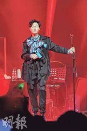 胡鴻鈞會展舉行處男個唱,心情非常興奮。(攝影:孫華中)