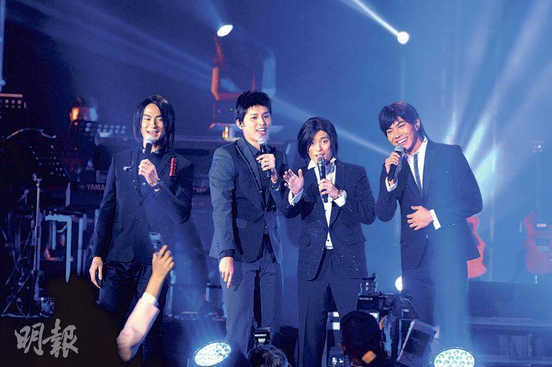 郭子豪(左起)、何廣沛、張彥博及羅天宇組成「跳躍F4」,是當晚演出的一大賣點。(攝影/記者:林祖傑)