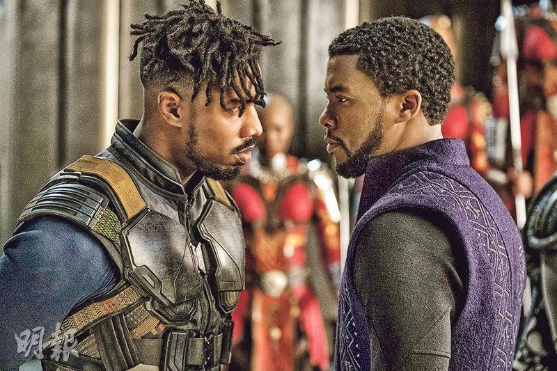 《黑豹》獲12項提名,包括米高佐敦(左)角逐最佳男配角,男主角卓威博士文(右)卻無緣問鼎影帝。