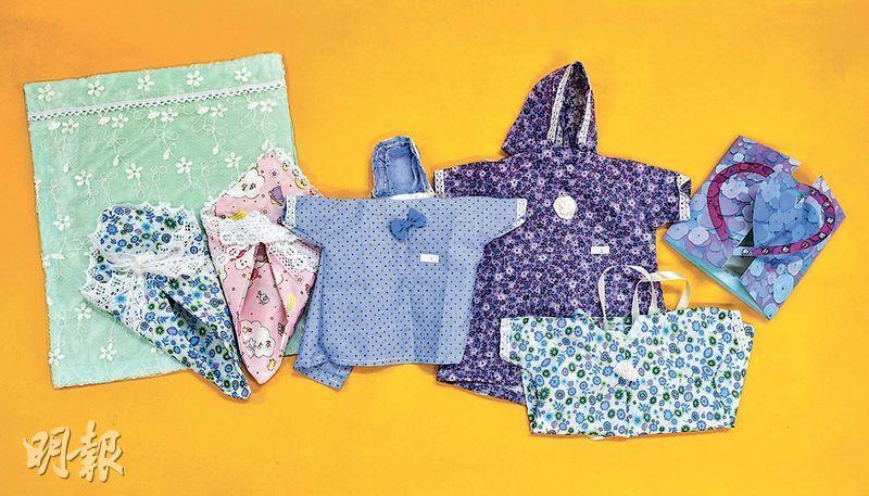 眾義工為早夭兒縫製不同尺寸的衣服及被,花心思揀選布料及配色以增款式,希望父母有選擇。(賴俊傑攝)