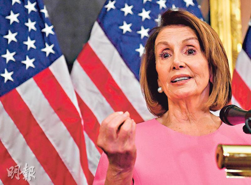 美國民主黨下月重掌眾議院,佩洛西(圖)將出任議長,外界關注民主黨會否推動調查甚至是彈劾特朗普。(法新社)