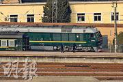 朝鮮領導人金正恩的專列昨日下午離開北京火車站。(法新社)