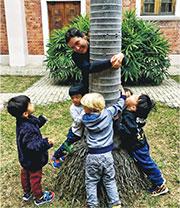 港大研究發現,幼童多接觸大自然能減少抑鬱、過度活躍及行為問題。(港大提供)
