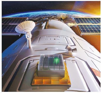 天宮二號上搭載的伽馬暴偏振探測儀實驗項目,近期完成高精度探測。圖為探測儀的設計圖片。(網上圖片)