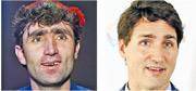 阿富汗男子馬夫通(左)的面貌、神情跟加拿大總理杜魯多(右)有幾分相似,引起人們留意。(法新社)