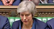 英國工黨黨魁郝爾彬周二又在下議院提出對政府的不信任動議,文翠珊(圖)沉默以對。(法新社)
