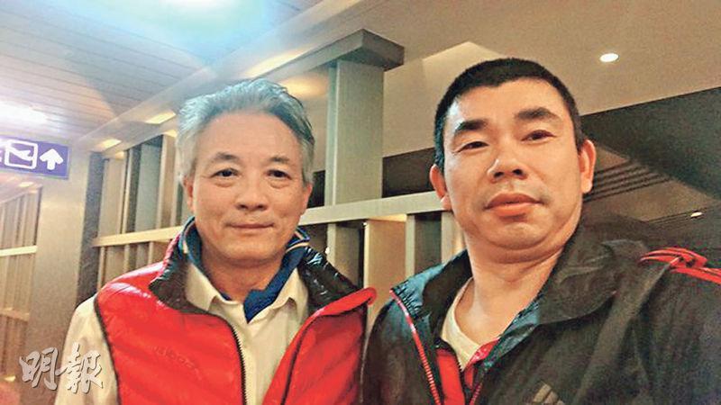 大陸男子劉興聯(左)和顏克芬(右)在桃園機場禁區滯留近4個月後,台灣計劃以「專業交流」名義安排他們入境。(網上圖片)