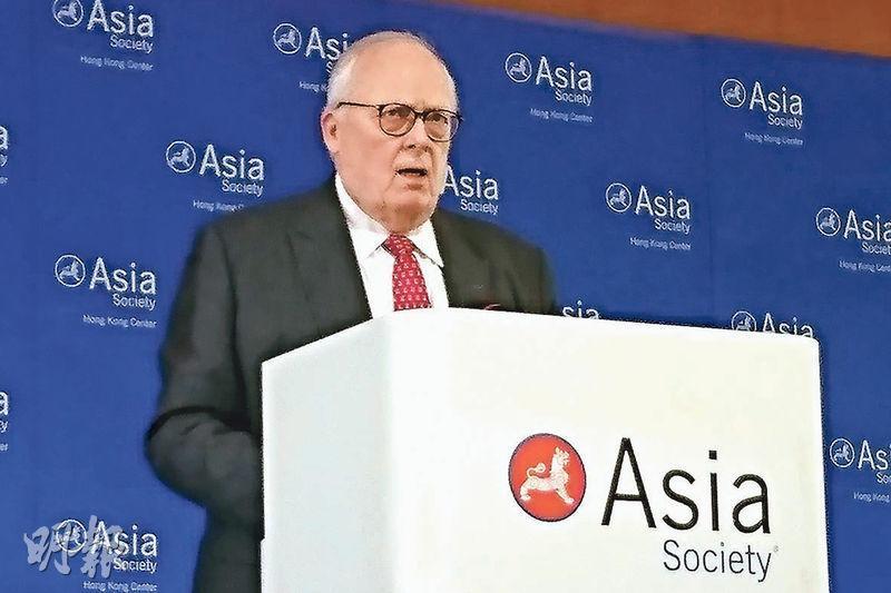 對於中國經濟自由度排名遠遜香港,兩地經濟愈趨融合會否影響香港,美國傳統基金會創辦人傅爾納(圖)昨強調,中國經濟自由度正在上升,反映好的事情正在中國發生。(梁智康攝)