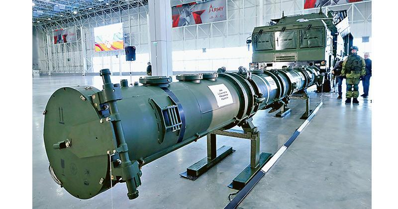 俄羅斯國防部上月23日公開展示9M729巡航導彈系統,解釋並無違反《中程導彈條約》。(路透社)