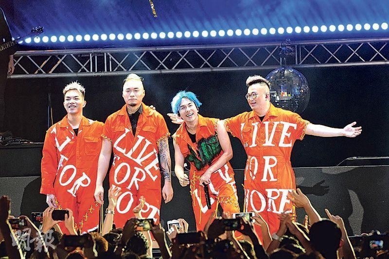 樂隊ToNick前晚投入演出,4人都說未來要向紅館進發努力。(攝影/記者:林祖傑)