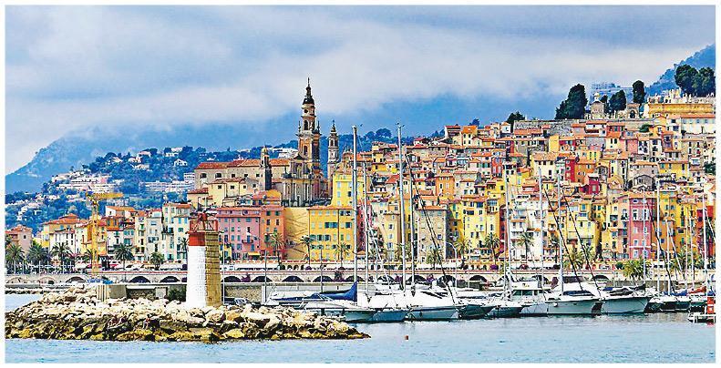 法國「蔚藍海岸」是避寒勝地,有着適合種植檸檬的氣候。