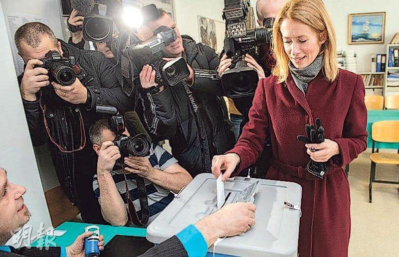 愛沙尼亞中間偏右的改革黨黨魁卡拉斯(圖)料成為該國首名女總理。(法新社)