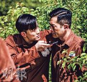 林峯(左)與古天樂在電影《P風暴》中有不少對手戲。