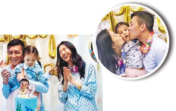 陳冠希與秦舒培為女兒Alaia開生日派對。(網上圖片)