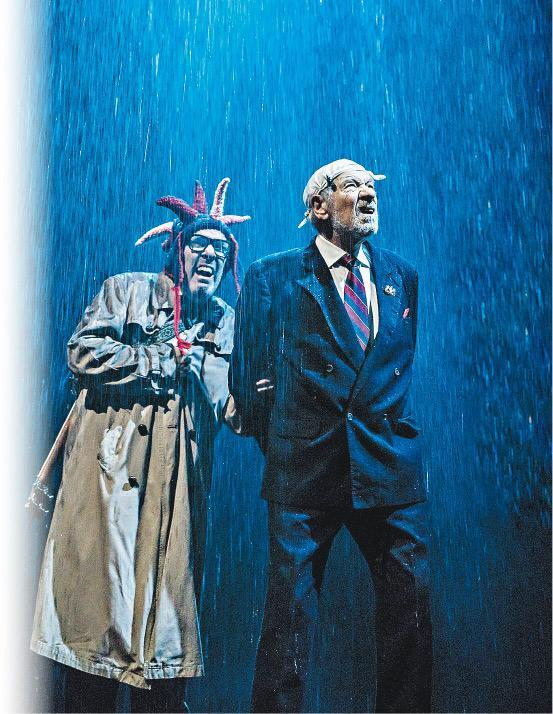 The fool and King Lear in the storm.
