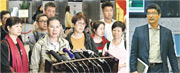 就支援人員薪酬調整,醫管局與工會代表兩周內第二次會面,惟談判破裂。香港醫療人員總工會副主席馮權國(左圖前排左二)宣布,將於明日在醫管局總部發起靜坐,預計200至300人參加。醫管局總辦事處人力資源主管彭飛舟(右圖)在會後見傳媒,表示新方案下現職第3級支援人員薪酬不會比新入職同事低,顧問報告將於9月完成,盼員工接受新方案,先紓緩基層員工工作壓力。(楊柏賢攝)