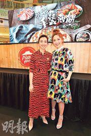 朱千雪(左)與湯洛雯合作節目後成為好姊妹。(攝影/記者:柯美)