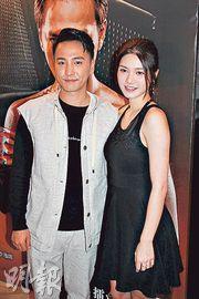 林耀聲(左)新戲首映,與女友張沛樂拍拖出席。(攝影/記者:柯美)