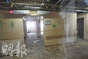 威院特別大樓被揭發7樓有石棉,該樓層原是候產室及產前病房,目前已被清空及圍封。(楊柏賢攝)