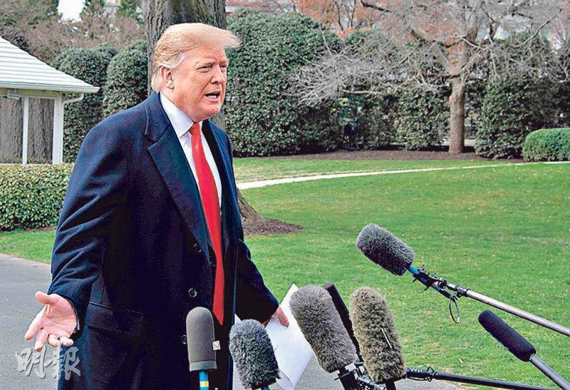 特朗普周三在白宮接受採訪時表示,中美達成貿易協議後,已加徵關稅仍將「維持一段長時間」,確保中國履行協議。(法新社)