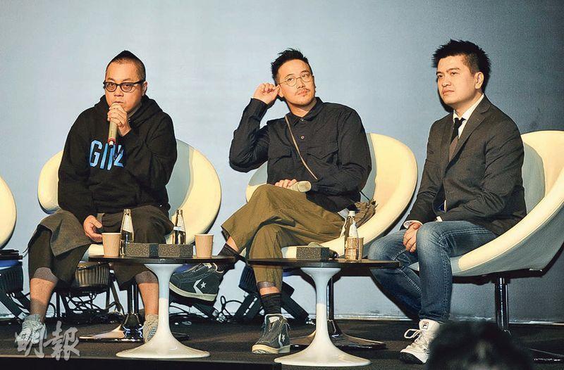 導演彭浩翔(左起)、曾國祥及陳詠燊昨日出席影視展座談會。(攝影/記者:陳釗)