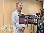 醫管局傳染病中心醫務總監曾德賢(圖)稱,由於港人麻疹病毒抗體的血清陽性率高,相信本港社區以至醫院內都不會出現麻疹大型爆發。(朱韻斐攝)