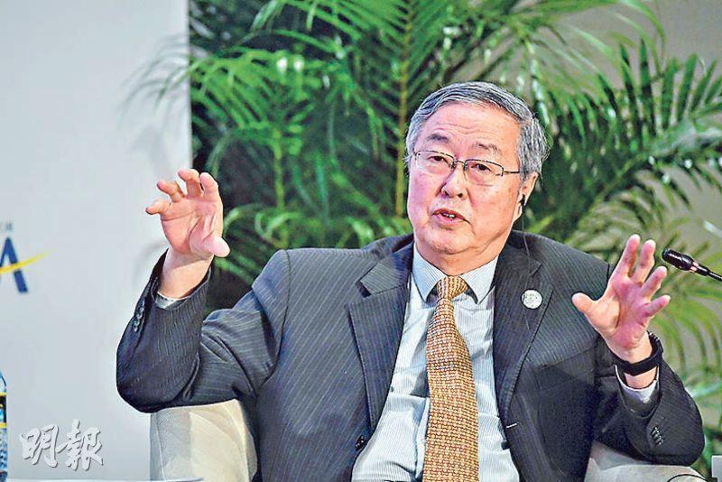 出席博鰲亞洲論壇的央行前行長周小川昨日表示,中國金融業開放還有很大空間。(中新社)