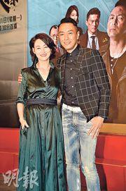 三屆金像影后惠英紅(左)加上好戲之人姜皓文(右),可以想像二人在《鐵探》演出必定戲味十足。(攝影:劉永銳)