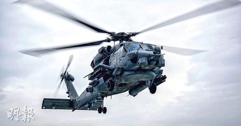 圖為美國同意向印度出售的MH-60R反潛直升機。(網上圖片)