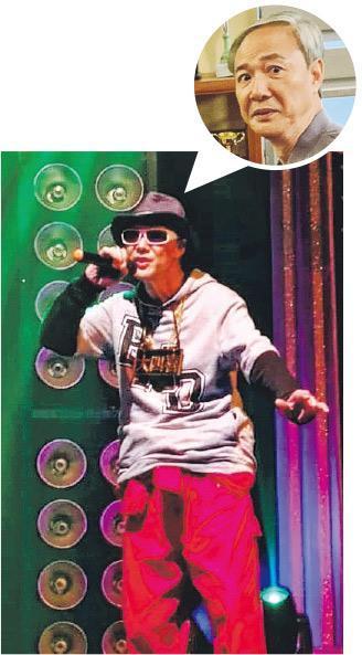 63歲陳榮峻穿上一身潮服Rap得有板有眼。(網上圖片)