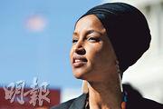 美國穆斯林眾議員奧馬爾(圖)以「一些人做了一些事」來形容911恐襲,惹來總統特朗普在Twitter 上狂轟。(路透社)