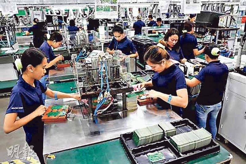圖為電力和自動化集團ABB去年在班加羅爾建立的首批智能工廠之一。(網上圖片)