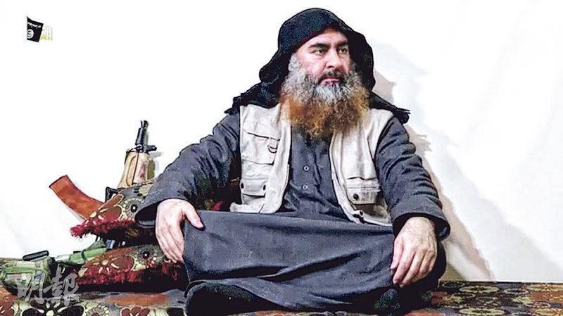 「伊斯蘭國」發布片段,聲稱片中男子是領袖巴格達迪。(路透社)
