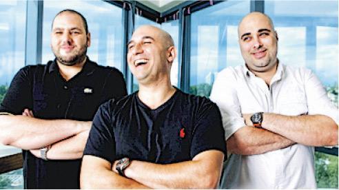 以色列公司NSO研發及出售網絡攻擊工具,可用作從手提電話中收集情報。圖為NSO公司3名創辦人。(網上圖片)