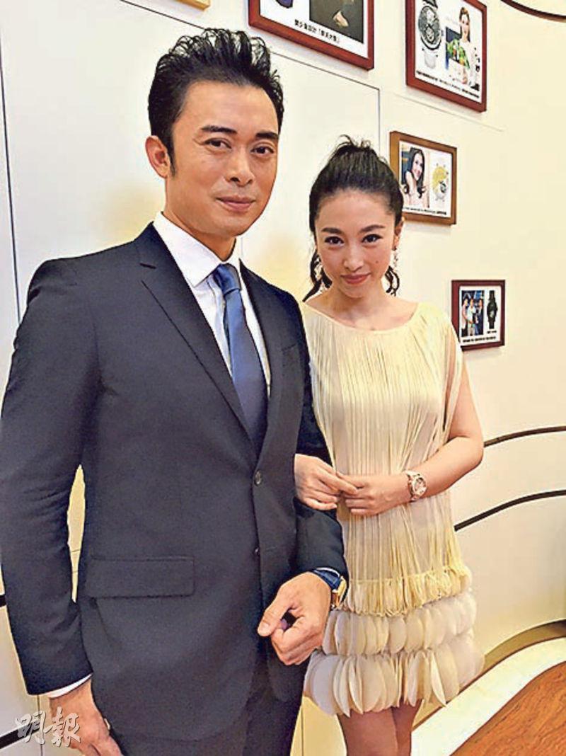 樊少皇(左)被入稟追債,賈曉晨繼續力撐老公。(資料圖片)