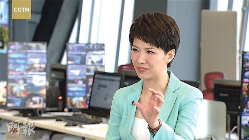 劉欣在對話結束語中歡迎霍士主播崔西來中國,還說陪她逛逛。隨後在CGTN的專訪中,她又表示期望改變崔西對中國人的觀感。(網上圖片)